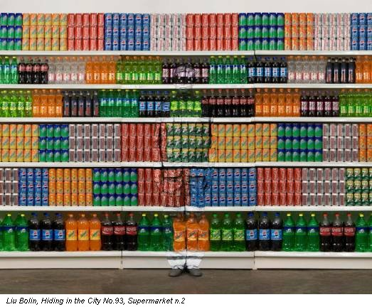 Liu Bolin, Hiding in the City No.93, Supermarket n.2