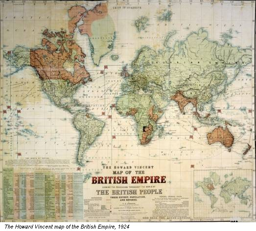 The Howard Vincent map of the British Empire, 1924