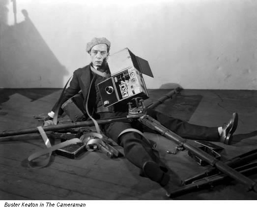 Buster Keaton in The Cameraman